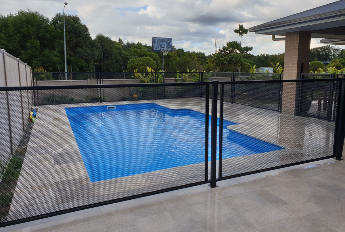 Picture of: Pool Perf Perforated Pool Fencing Made To Measure And Council Approved